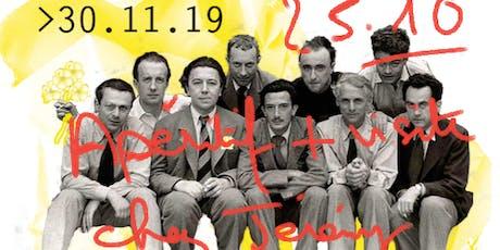 4/6 CADAVRE EXQUIS suite ! > 25.10.2019 Apéritif & visite atelier, performance Jérémy Louvencourt billets