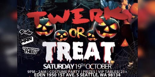 Sharm x Brains Productions Presents TWERK OR TREAT:Halloween Costume Party
