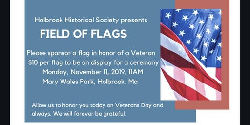 Holbrook Historical Flag Sponsor- Veterans Day