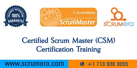Scrum Master Certification | CSM Training | CSM Certification Workshop | Certified Scrum Master (CSM) Training in Rockford, IL | ScrumERA tickets