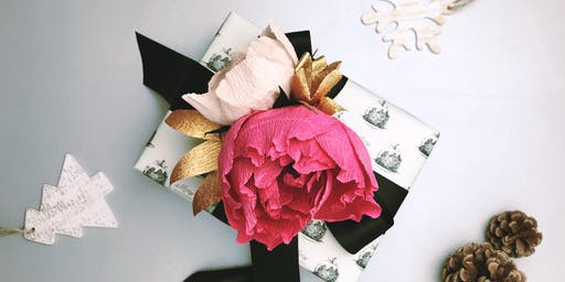 Paper Flower Gift Topper Workshop with Paper Meadow Studio