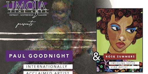 Umoja Fine Arts presents Paul Goodnight & Rose Summers Opening Reception