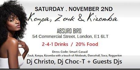 Konpa, Zouk & Kizomba Night tickets