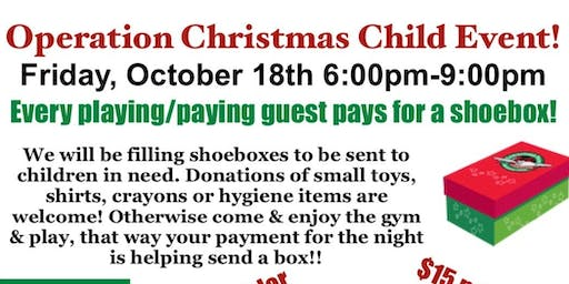 Event to Benifit Operation Christmas Child