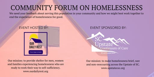 Share Your Opinion on Homelessness in Your Community.