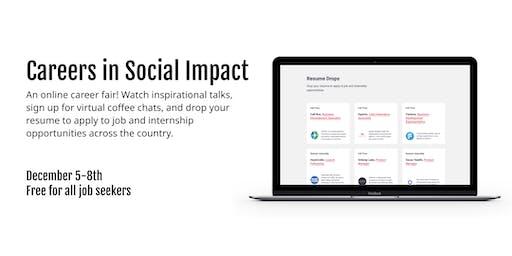 Careers in Social Impact - Online Career Fair