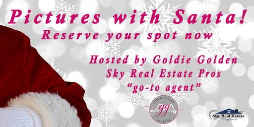 Pictures with Santa! Limited space available, reservations required