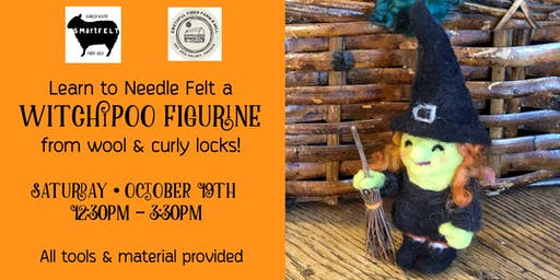 Needle Felting Workshop: Halloween Witchipoo Figurine