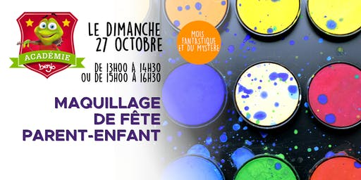 Atelier maquillage de fête parent-enfant