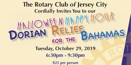 The Rotary Club of Jersey City Halloween Happy Hour - Bahamas Dorian Relief tickets