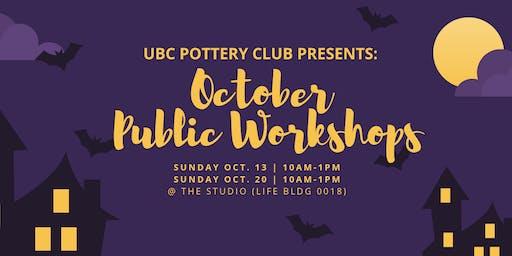 UBC Pottery Club's October Public Workshops