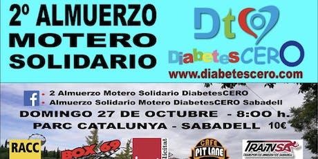 2 Almuerzo  Motero Solidario DiabetesCERO entradas