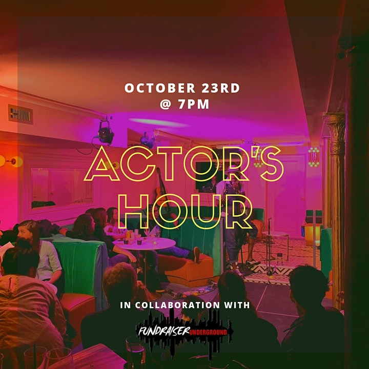 Actor's Hour - A Speakeasy for Artists! (Fundraiser Underground Edition) image