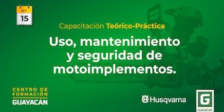 Uso, mantenimiento y seguridad de motoimplementos entradas