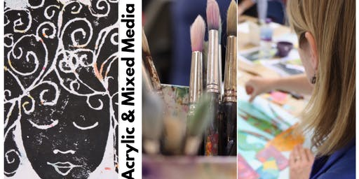 ★ ABSOLUTE BEGINNERS IN ACRYLICS & MIXED MEDIA - DAYTIME