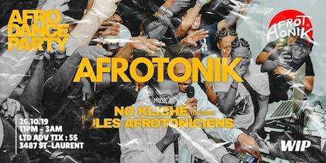Afrotonik Dance Party billets