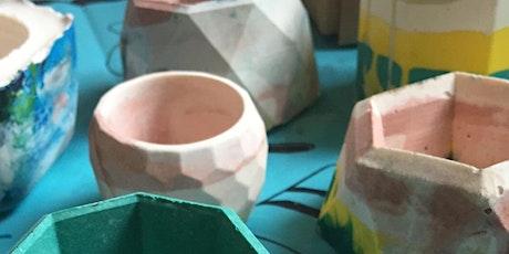 Create a Jesmonite Pot tickets
