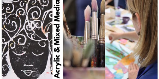 ★ ABSOLUTE BEGINNERS IN ACRYLICS & MIXED MEDIA - NIGHT COURSE