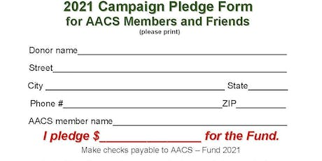 AACS Maintenance Reserve Fund 2021 Campaign tickets