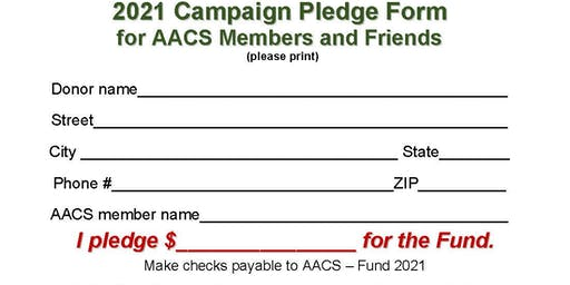 AACS Maintenance Reserve Fund 2021 Campaign
