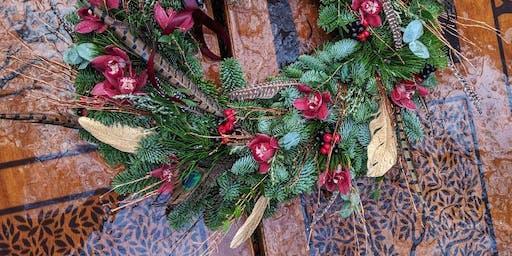 Floral Christmas wreath - Adult workshop