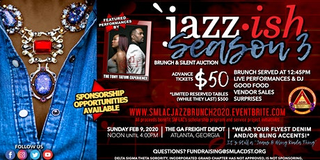 """SM-LAC's Jazz Brunch:  """"Jazz-ish Season 3...A Jeans and Bling Kinda Thing"""" tickets"""