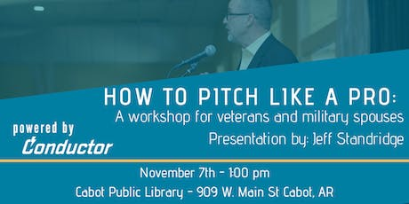 How to pitch like a pro: a workshop for veterans or military spouses tickets