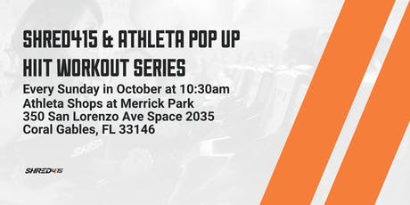 Shred415 & Athelta Pop Up HIIT Workout Series tickets