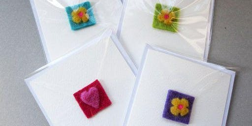 Needle felted Cards