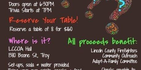 Trivia Night Fundraiser to benefit Adopt-A-Family 2019
