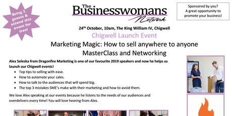 BWN Chigwell -  Marketing Magic: How to sell anywhere to anyone. tickets