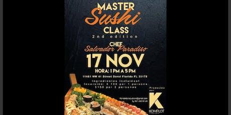 Master Sushi Class. 2da. Edición tickets