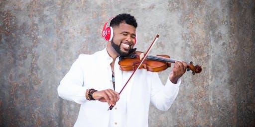 Big Lux Electric Violinist at Vinos on Galt