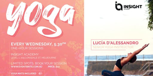 Yoga at Insight with Lucia D'Alessandro