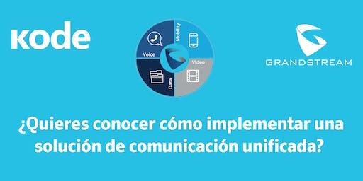 ¿Quieres conocer cómo implementar una solución de comunicación unificada?