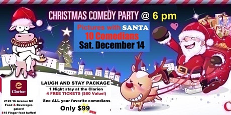 CHRISTMAS COMEDY Party SHOW - Saturday, December 14 @ 6 pm tickets