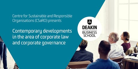 Contemporary developments in corporate law and corporate governance tickets
