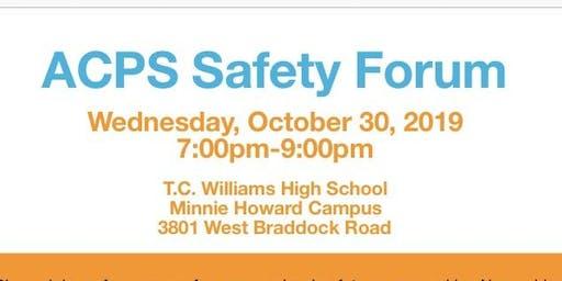 Alexandria City Public Schools Safety Forum