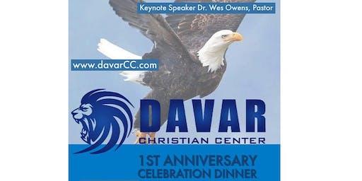 Davar Christian Center 1st Anniversary Celebration Dinner