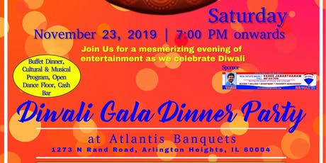Diwali Gala Dinner Party 2019 - One of Chicago's Largest Diwali Party tickets