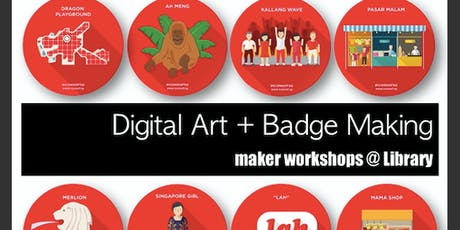 Maker's@DMNS Library: Digital Art + Badge Maker tickets