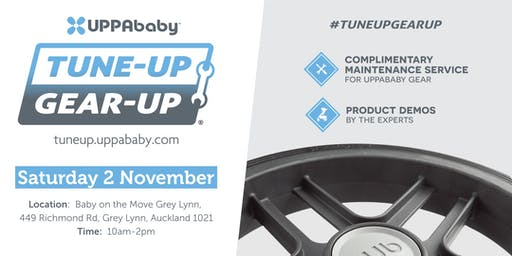 UPPAbaby Stroller Tune-UP Gear-UP @ Baby on the Move, Grey Lynn