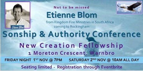 Sonship &Authority conference tickets