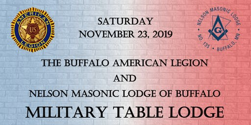 Military Table Lodge 2019