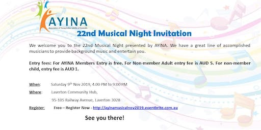 22nd AYINA Musical Night