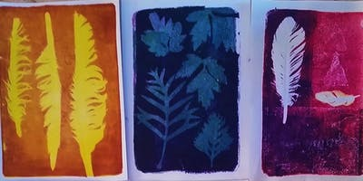 Exploring Monotype  Printmaking Workshop with Helen Hulme and Sue Dennis