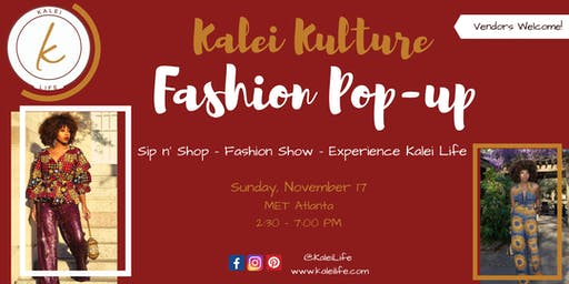 VENDOR CALL: Kalei Kulture Holiday Pop-up