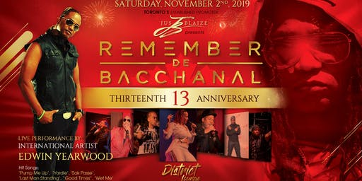 REMEMBER DE BACCHANAL - The Anniversary