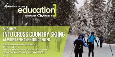 SheJumps into Cross Country Skiing at Mount Spokane Nordic Center
