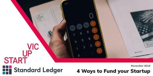 Startup Victoria x Standard Ledger: 4 Ways to Fund Your Startup